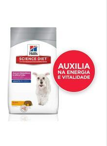 [Prime] Ração Hill's Science Diet para Cães Adultos 7+ Raças Pequenas e Miniatura - 3kg