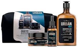 Kit Urban Shampoo + Óleo + Pomada- Grátis Necessarie, Urban [Prime] R$55