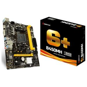 Biostar B450MH (AM4 - DDR4 3200 O.C) | R$ 500