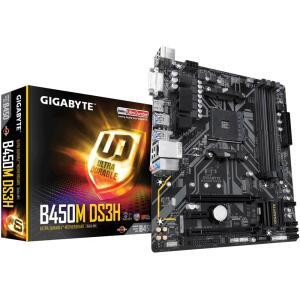 Placa-Mãe Gigabyte B450M DS3H, AMD AM4, mATX, DDR4 | R$540