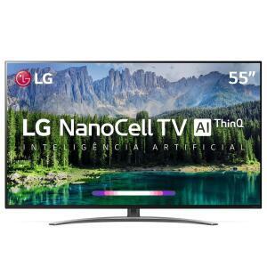 Smart TV LED LG 55'' 55SM8600 UHD 4K NanoCell 120HZ + Smart Magic | R$3.149