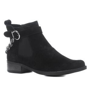 Bota Cano Curto Shoestock Corrente Salto Baixo Feminina | R$159