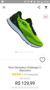 [APP] Tênis Olympikus Challenger 2 (N° 39 ao 42)