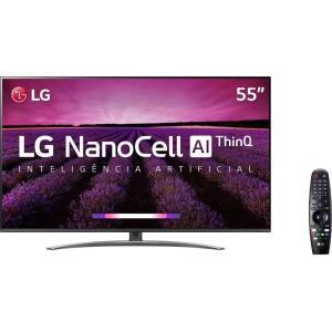 [AME R$ 2799] Smart TV LED 55'' LG 55SM8100 Ultra HD 4K Nanocell - Preta Controle Smart Magic