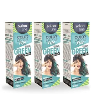 Kit 3 Tonalizantes Color Express Fun Green | R$37