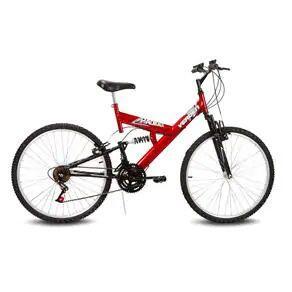 Bicicleta Aro 26 Verden Radikale 18 Marchas Dupla Suspensão – Vermelho/Preto | R$599