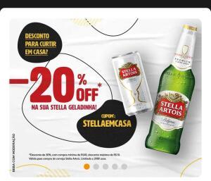 20% off em cerveja Stella Artois (só RJ)