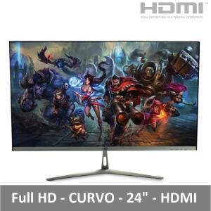 "Monitor Gamer LED 24"" Curvo Full HD 1ms HDMI 75Hz Widescreen HQ R$789"