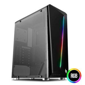 Gabinete Pichau Easy PE340 Lateral Vidro Temp RGB - R$163