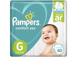 [APP] Fralda Pampers Confort Sec Tam. G - 9 a 12,5kg 60 Unidades R$48