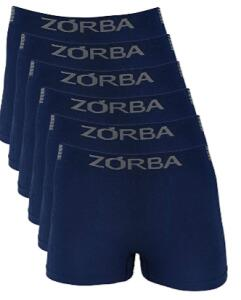 Kit c/ 6 Cuecas boxer Zorba Seamless Ex Trendy Masculino