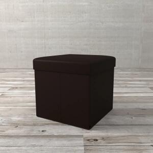 Puff Box Ii De Poliuretano Tabaco 38cm na Etna | R$ 50