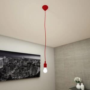 Canopla Light Luminária de Teto Vermelha, Branca, Cinza, Preta E27 Bivolt | R$ 25