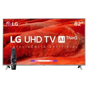 "Smart TV LED 82"" UHD 4K LG 82UM7570PSB ThinQ AI Inteligência Artificial | R$ 10.999"