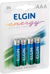 [PRIME] Kit Pilhas Alcalinas com 4X AAA Palito, Elgin | R$7
