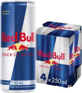 [PRIME] Energético Red Bull Energy Drink com 4 Latas 250ml | R$26