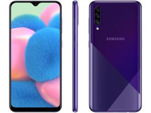 "Smartphone Samsung Galaxy A30s 64GB Violeta 4G - 4GB RAM Tela 6,4"" Câm. Tripla + Câm. Selfie 16MP"