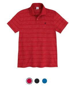 Camisa Polo Manga Curta, Malwee, Masculino ( vermelho, Azul, Preto)