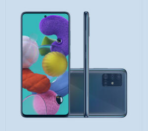 Smartphone Samsung Galaxy A51 128GB Preto   R$ 1.629
