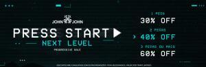 Até 60% OFF progressivo na John John
