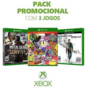 Box Games - Metal Gear Survive + Super Bomberman R + Quantum Break - Xbox One - R$123