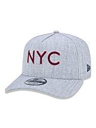 Boné 9Forty NYC, New Era, Adulto, Mescla Cinza, U