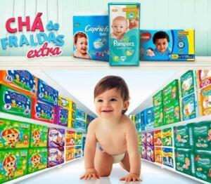 CHÁ DE FRALDAS EXTRA | Fraldas, Lenços Umedecidos e produtos de higiene