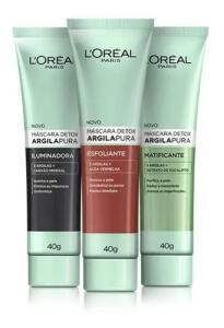 Máscara Detox L'Oréal Argila Pura 40g