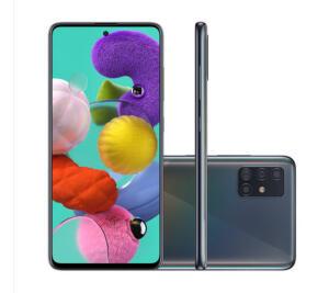 Smartphone Samsung Galaxy A51 128GB Preto 4G Tela 6.5 Pol. Câmera Quadrupla 48MP Selfie 32MP Android 10.0