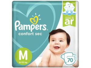 Fralda Pampers Confort Sec M - 70 UN | R$ 49,90