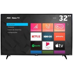 "AOC Roku TV Smart TV LED 32"" 32S5195/78   R$999"
