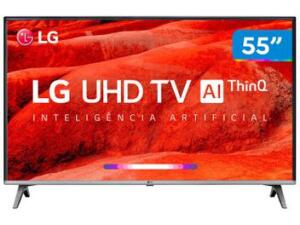 "Smart TV 4K LED 55"" LG 55UM7520PSB"