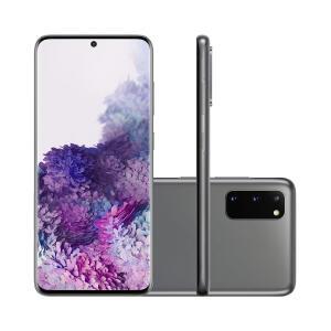 Smartphone Samsung Galaxy S20 128GB Cosmic Gray 4G Tela 6.2 Pol. Câmera Tripla 64MP Selfie 10MP Android 10