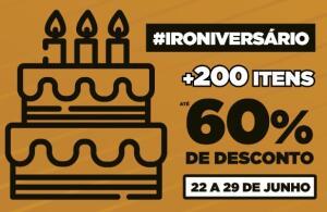 Promoção de Aniversário Iron Studios