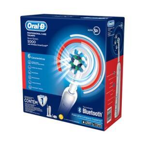 Escova Elétrica Professional Care 5000 Bluetooth - Oral-B - R$243