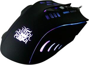(Prime) Mouse Gamer 5+ 6 Botões 2400 DPI Palm Grip, Nemesis, Mouses, Preto