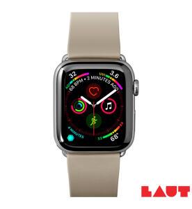 Pulseira para Apple Watch 42/44mm Active em Borracha TPU Cinza Taupe   R$ 142
