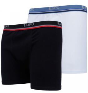 Kit de Cueca Boxer Lupo com 2 Unidades - Adulto