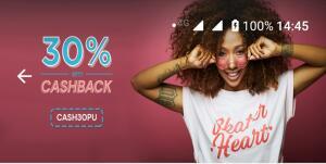 30% de Cashback em Serviços Locais