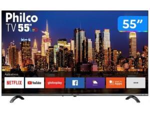 """Smart TV 4K UHD D-LED 55"""" Philco PTV55Q20SNBL - Wi-Fi HDR 3 HDMI 2 USB"""