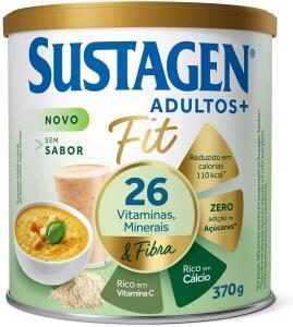 Complemento Alimentar Sustagen Adultos+ Fit Sem sabor - Lata 370g, Sustagen N&E - R$49
