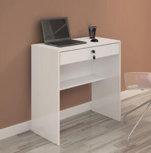 Escrivaninha Andorinha - Uma Gaveta com chave - Andorinha JCM Móveis Branco - R$ 99,90