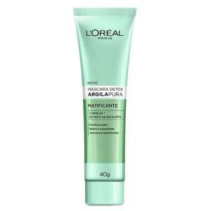 Máscara Facial L'Oréal Argila Pura Detox Matificante 40g R$15