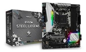 PLACA MAE ASROCK B450M STEEL LEGEND DDR4 SOCKET AM4 CHIPSET AMD B450 - R$ 750
