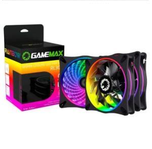 Kit cooler rgb gamemax 3 unidades com controle | R$137