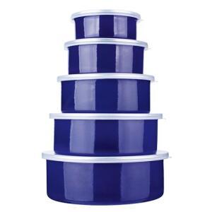 Conjunto de Potes Redondos Euro Home Agatha 5 Peças | R$35
