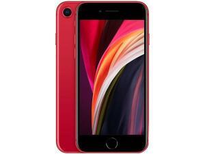 "iPhone SE Apple 128GB (Product) Red 4G Tela 4,7""-Retina Câm. 12MP + Selfie 7MP iOS 13"