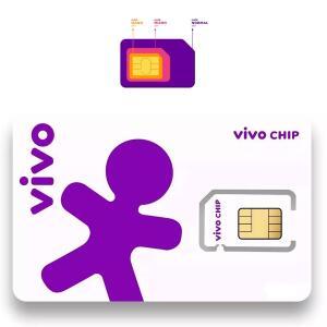 Vivo ou TIM Chip Triplo Corte 4G - Pré-Pago/Pós-Pago | R$ 7