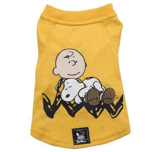 Camiseta Zooz Pets Charlie Snoopy Sleeping Amarela PP | R$ 40