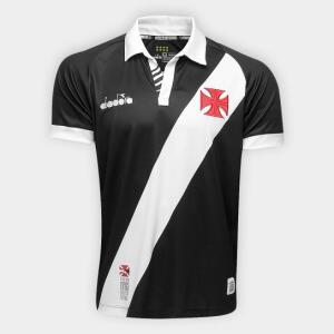[-60% OFF] Camisa Vasco I 19/20 s/nº Torcedor Diadora Masculina - Preto